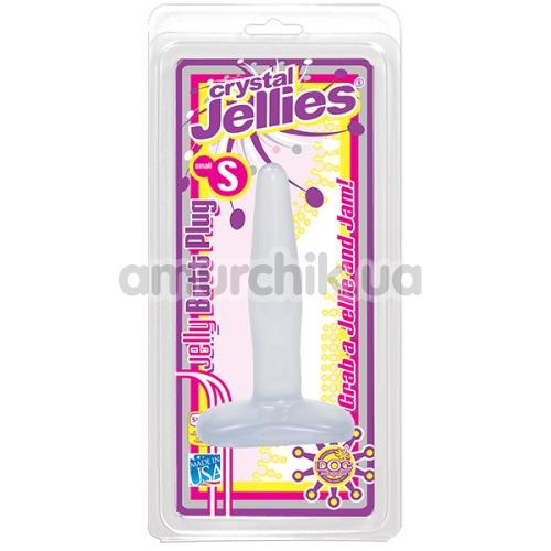 Анальная пробка Crystal Jellies Small, 10 см прозрачная