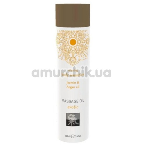 Массажное масло Shiatsu Massage Oil Erotic Jasmin & Argan Oil - жасмин и аргановое масло, 100 мл - Фото №1