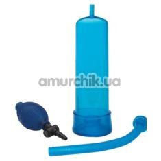 Вакуумная помпа Penis Enlarger, гладкая голубая - Фото №1