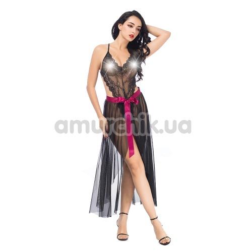Комплект JSY Sexy Lingerie SO3698 черный: боди + юбка