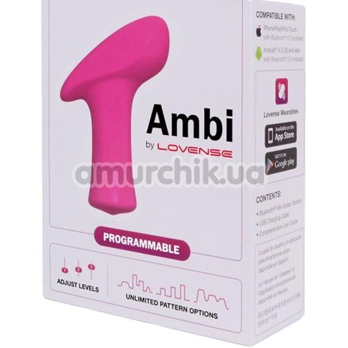 Клиторальный вибратор Lovense Ambi, розовый
