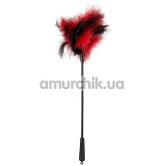 Перышко для ласк Bad Kitty Feather Tickler, черно-красное - Фото №1