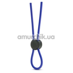 Эрекционное кольцо Stay Hard Silicone Loop Cock Ring, синее - Фото №1