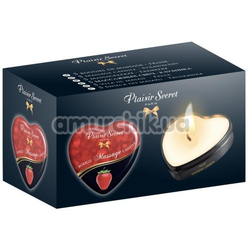 Массажная свеча Plaisir Secret Paris Bougie Massage Strawberry - клубника, 35 мл