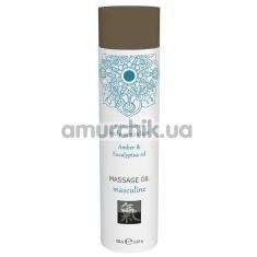Массажное масло Shiatsu Massage Oil Masculine Amber & Eucalyptus Oil - янтарь и эвкалипт, 100 мл - Фото №1
