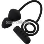 Анальная пробка с виброкольцом Erotist Ruffle M-Size, черная - Фото №1