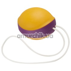 Вагинальный шарик Amor Gym Balls Single, оранжево-фиолетовый - Фото №1