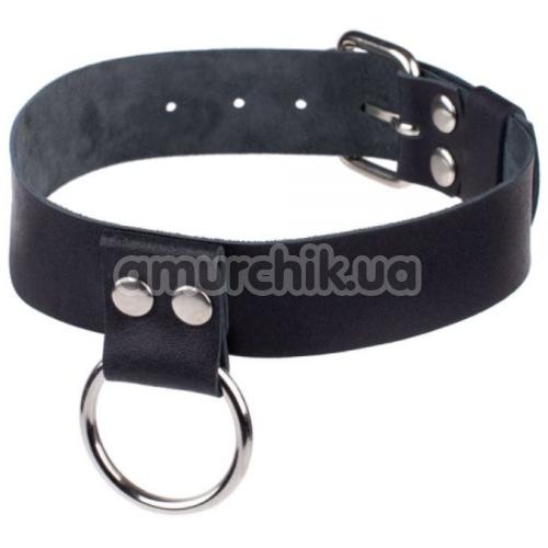 Ошейник sLash Ring of Humiliti Smooth, черный - Фото №1