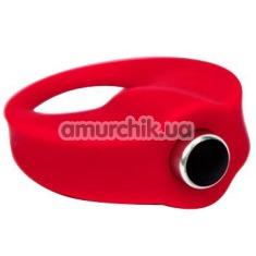 Виброкольцо Caliber Cock Ring, красное - Фото №1