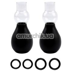 Вакуумные стимуляторы для сосков All Time Favorites Nipple Sucker Set For Her, черные - Фото №1