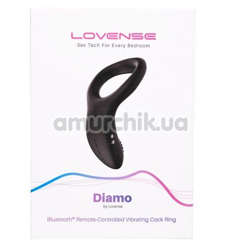 Виброкольцо Lovense Diamo, черное