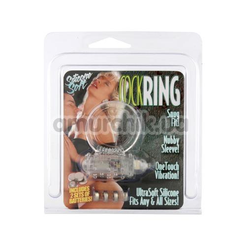Виброкольцо Silicone Soft Cock Ring Vibro прозрачное