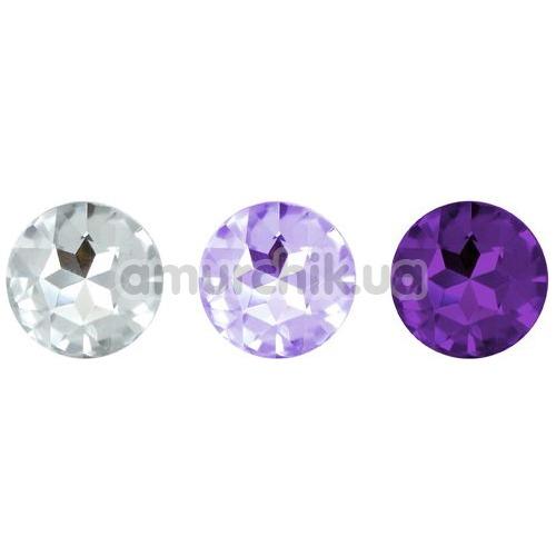 Набор из 3 анальных пробок Rianne S Booty Plug Set (3х), фиолетовый