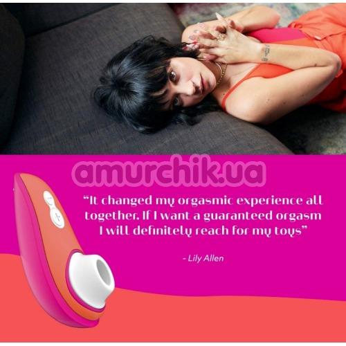 Симулятор орального секса для женщин Womanizer Liberty by Lily Allen, оранжево-розовый