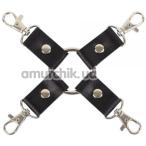 Ремешки для фиксаторов sLash Leather Fixer Slave, черные - Фото №1
