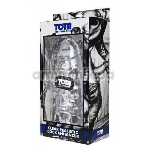 Насадка на пенис Tom of Finland Clear Realistic Cock Enhancer, прозрачная