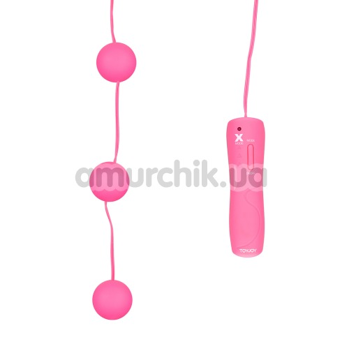 Вагинальные шарики с вибрацией Funky Triple Power Balls, розовые
