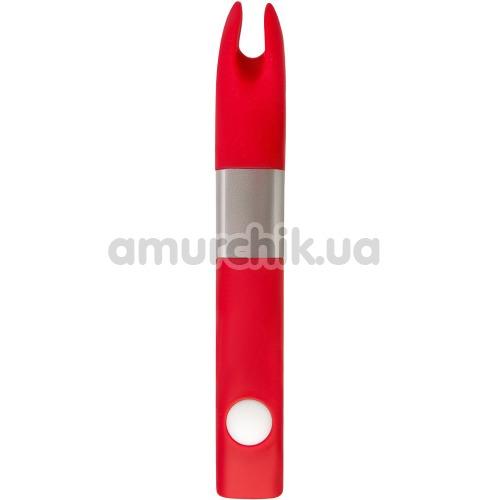 Клиторальный вибратор-флешка Qvibry Memo, красный - Фото №1