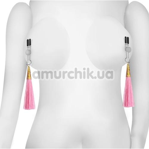Зажимы для сосков LoveToy Bondage Fetish Glamor Tassel Nipple Clamp, розовые