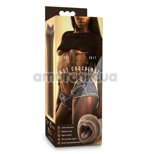 Симулятор орального секса Hot Chocolate Naughty Nicole, коричневый