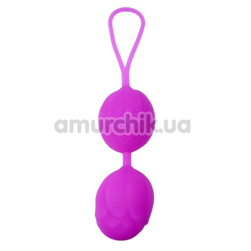 Вагинальные шарики Boss Silicone Kegel Balls, фиолетовые - Фото №1