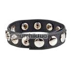 Эрекционное кольцо Colt Leather C/B Strap 8 Snap Fastener, черное