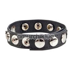 Эрекционное кольцо Colt Leather C/B Strap 8 Snap Fastener, черное - Фото №1