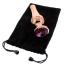 Набор из 3 анальных пробок с розовым кристаллом Gleaming Love Pleasure Plug Set, розовый - Фото №3