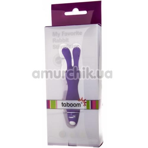 Вибратор Taboom My Favorite Rabbit Stimulator, фиолетовый