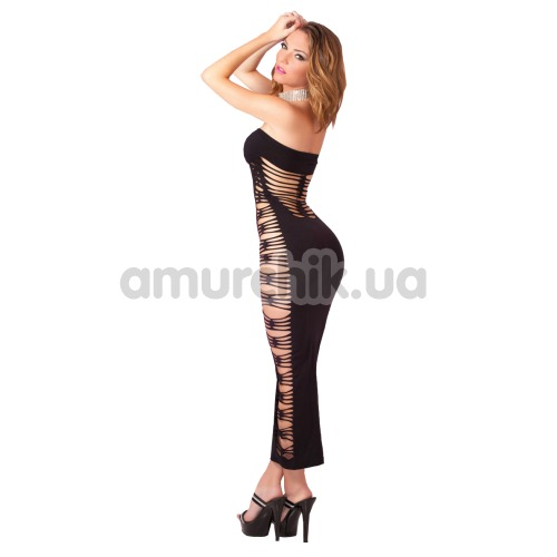 Платье-сетка Big Spender Seamless Long Dress, черное