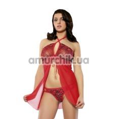 Комплект Erolin Hot Nights Red: пеньюар + трусики (модель ERL300001)