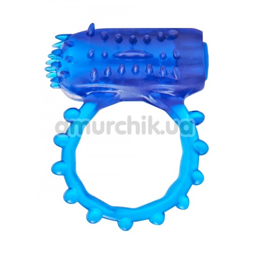 Набор из виброкольца и вибронапалечника Flex Ring And Finger Vibe, синий