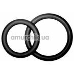 Набор из 2 эрекционных колец PotenzDuo Medium, черный