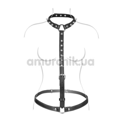 Портупея Fetish Tentation Sexy Adjustable Harness, черная - Фото №1