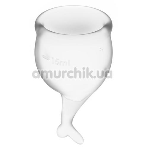 Набор из 2 менструальных чаш Satisfyer Feel Secure, прозрачный