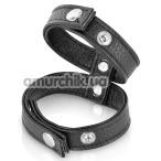 Эрекционное кольцо Fetish Tentation Double Сockring, черное - Фото №1