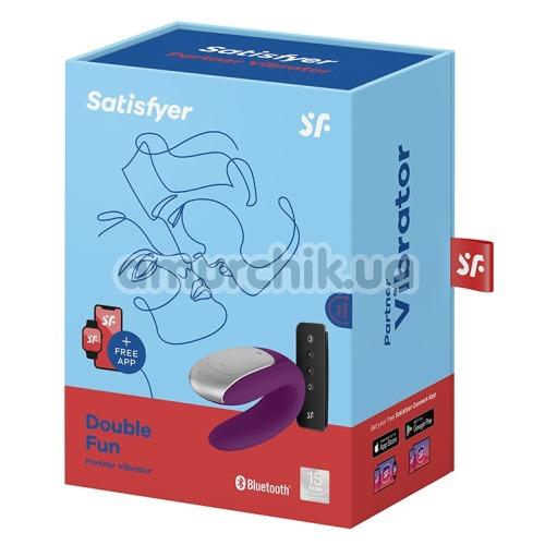 Вибратор Satisfyer Double Fun Partner Vibrator, фиолетовый