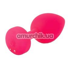 Анальная пробка с вибрацией Gplug маленькая, розовая