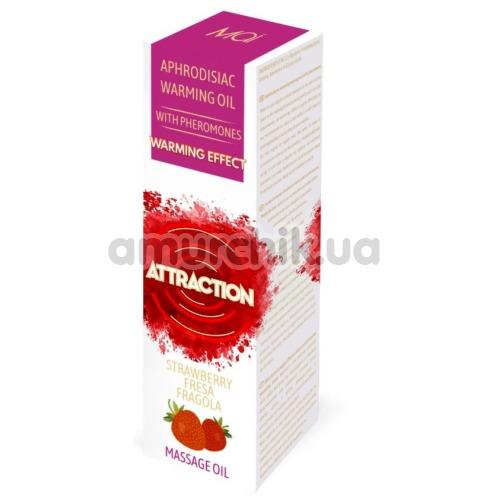 Массажное масло с феромонами Aphrodisiac Warming Massage Oil Attraction Strawberry с согревающим эффектом - клубника, 30 мл