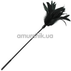 Пёрышко для ласк Sportsheets Starburst Feather Body Tickler, чёрное - Фото №1
