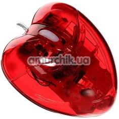 Компьютерная мышка Сердце, красная - Фото №1