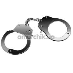 Наручники Fetish Pleasure Metal Hand Cuffs, серебристые - Фото №1