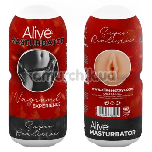 Мастурбатор Alive Vaginal Experience, телесный