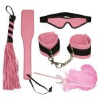Бондажный набор Bad Kitty Naughty Toys Fetish Set, розовый - Фото №1