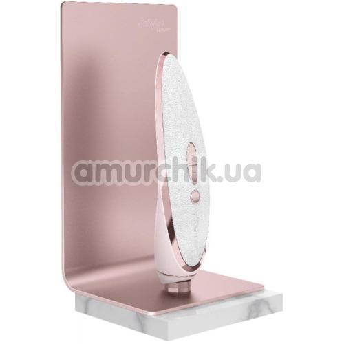 Симулятор орального секса с вибрацией для женщин Satisfyer Pret A Porter, розово-белый
