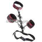 Ошейник с фиксаторами для рук Scandal Collar Body Restraint, черно-красный - Фото №1