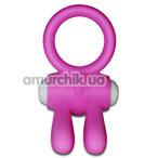 Виброкольцо Power Clit Cockring Rabbit, розовое - Фото №1