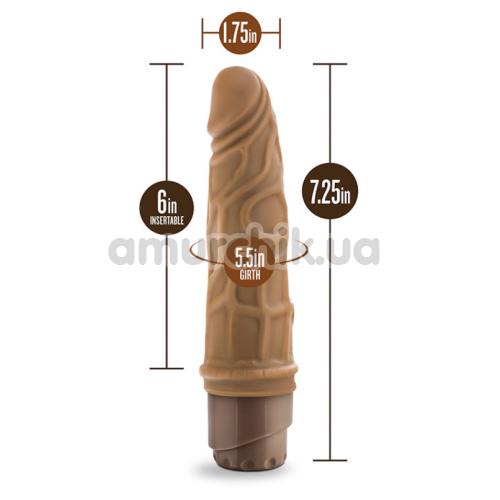 Вибратор Dr. Skin Cock Vibe 3, коричневый