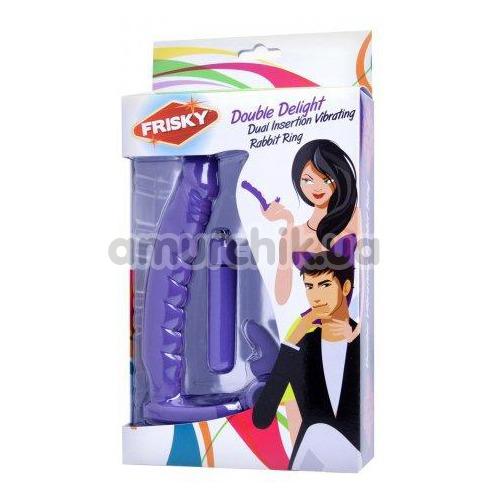 Анальная насадка с вибрацией Frisky Double Delight, фиолетовая