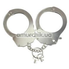 Наручники Adrien Lastic Menottes Metal Handcuffs, серебряные - Фото №1